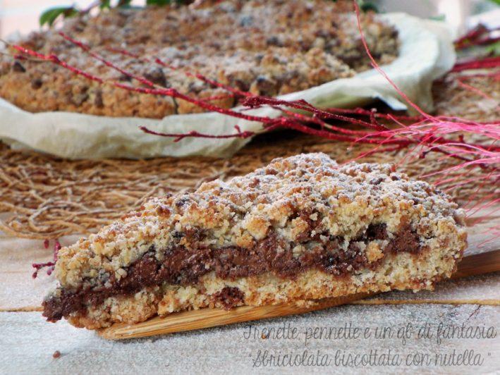 Sbriciolata biscottata con nutella