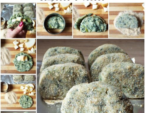 Mezzelune di patate e spinaci ripine di formaggio