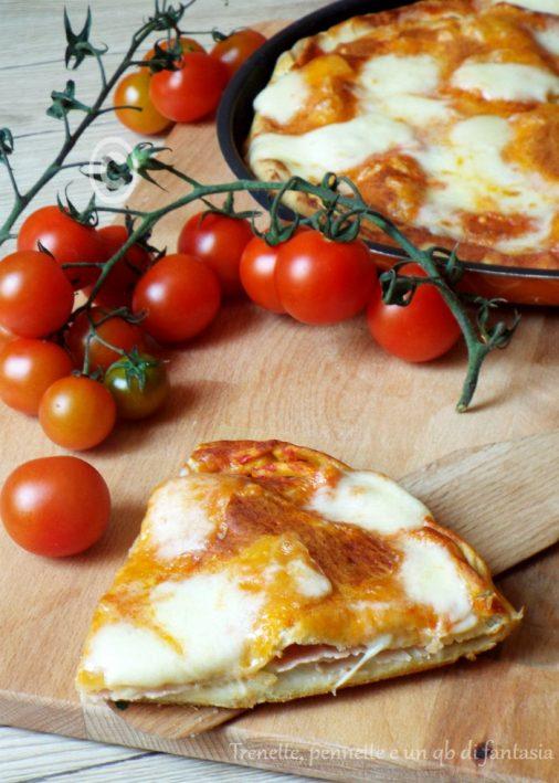 Pizza senza lievito farcita