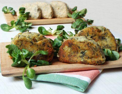 Mezzelune di patate e spinaci ripiene