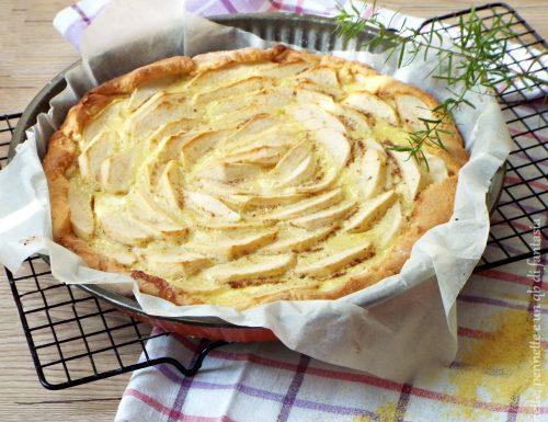 Crostata con farina di mais e mele