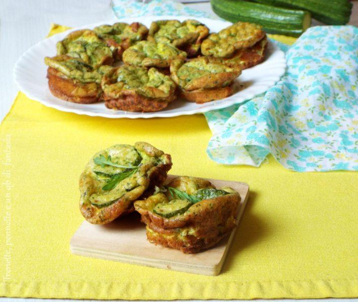 Frittatine al forno con zucchine