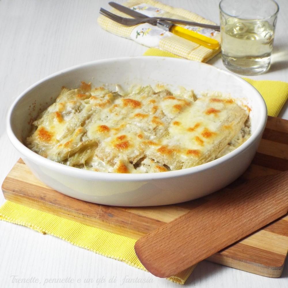 Cardi gratinati con mozzarella