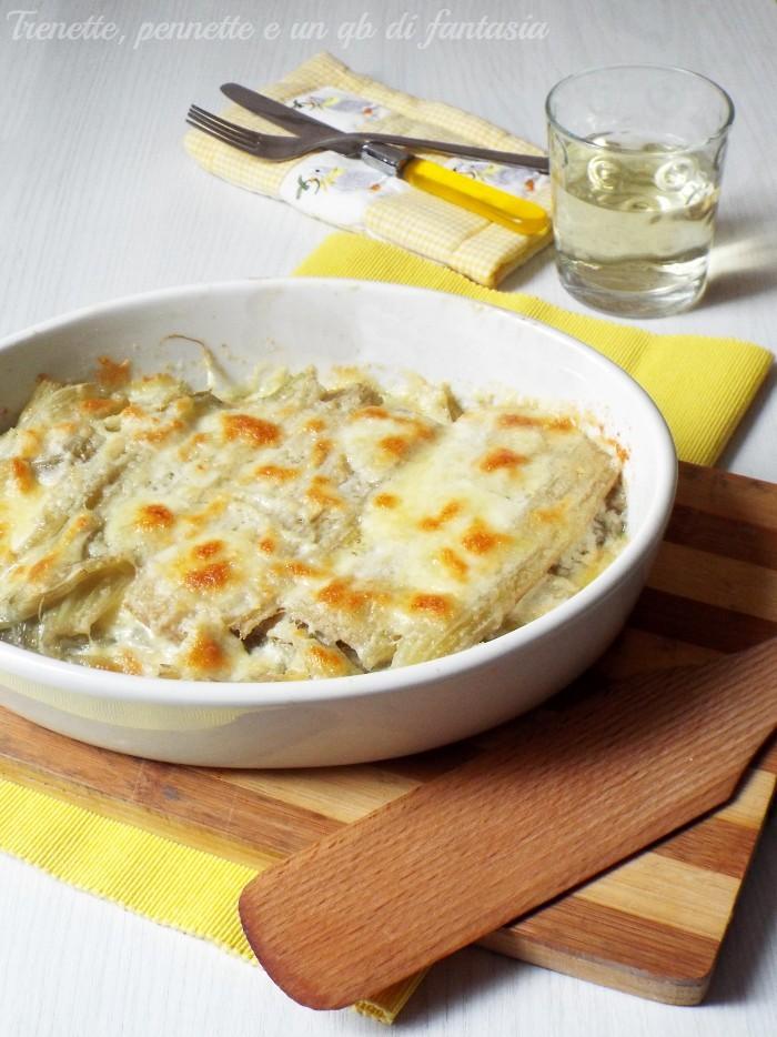 Cardi gratinati con gorgonzola