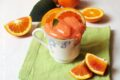 Crema all'arancia rossa senza latte, senza uova