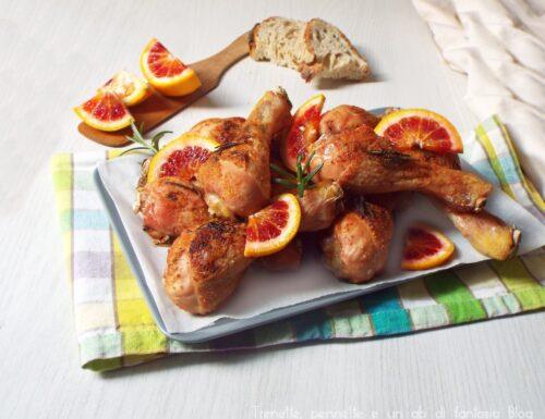 Fusi di pollo all'arancia