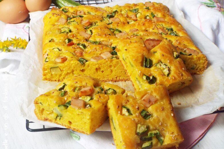 Pizza veloce con zucchine e tacchino