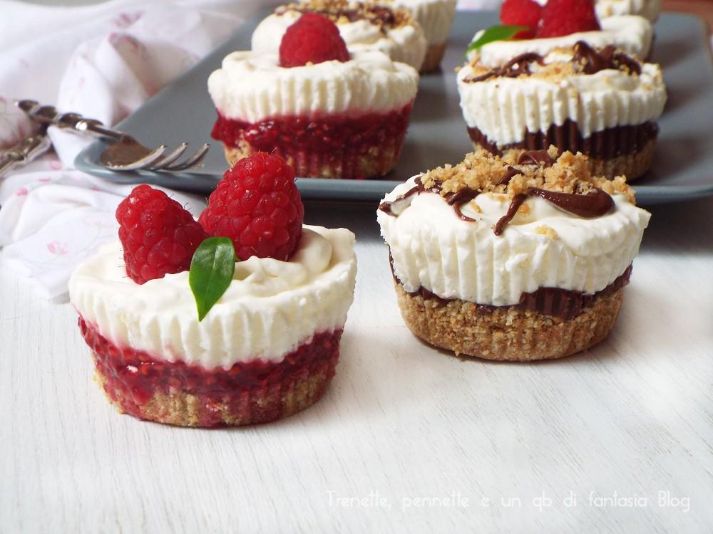 Mini cheesecake con nutella