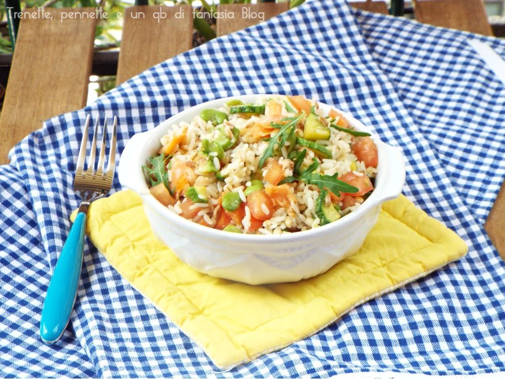 Insalata ai cereali con zucchine