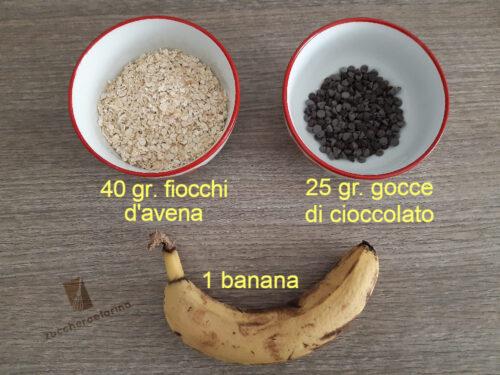 Biscotti avena e banana e cioccolato